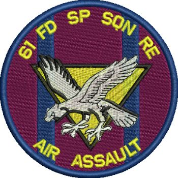 61 FD SP SQN RE Embroidered Badge